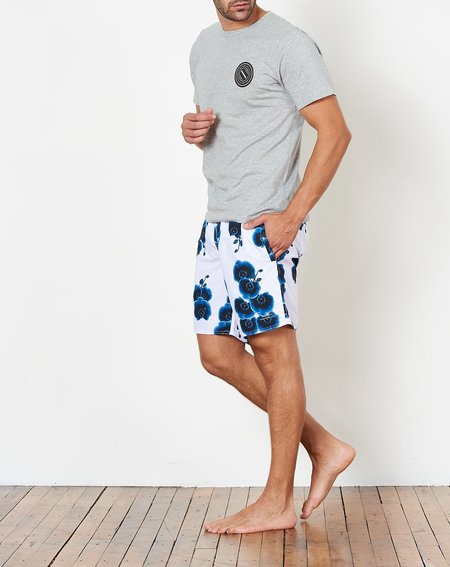 Saturdays NYC Timothy Orchid Swim Short - White Orchid Print