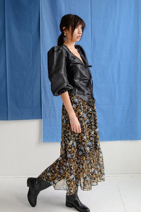 Just Female Antonin Maxi Skirt - Corn Flower Print