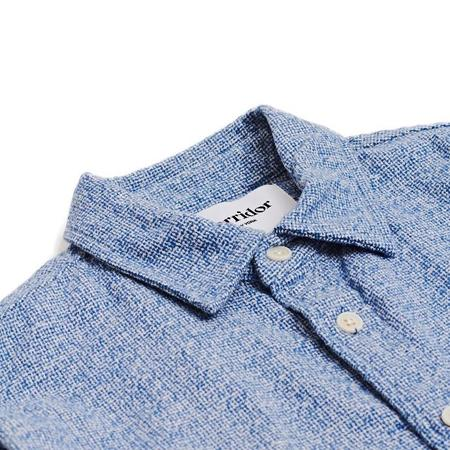 Corridor Flannel Long Sleeve Shirt - Speckle Blue