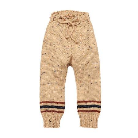 Kids Misha & Puff Snowy Day Leggings - Camel Confetti Stripe