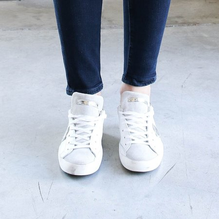 Philippe Model Paris Basic Sneaker - Blanc/Silver