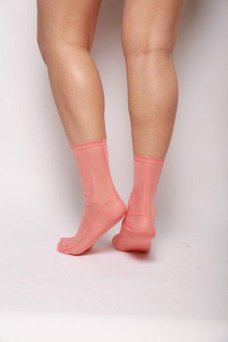 darner Mesh Socks - Peach