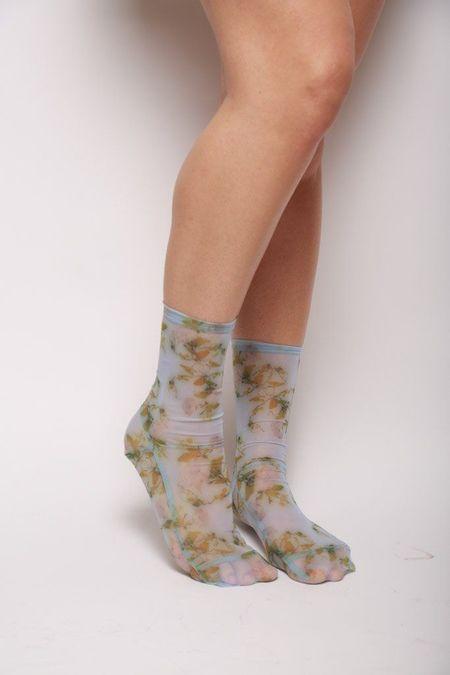 darner Rosendal Mesh Socks - Powder Blue