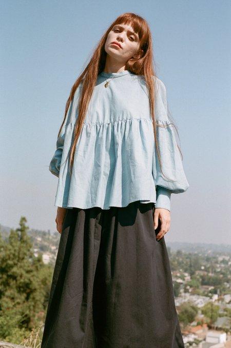 Town Clothes Salima Blouse - Cerulean