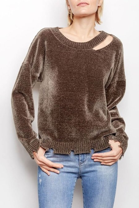 Generation Love Leslie Chenille Sweater - Army