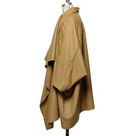 Unisex Monitaly Voguar Type-8 Wool Flannel Coat - Camel