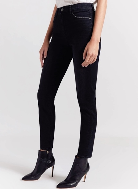 Current Elliott High Waist Stiletto Jean - 1 year worn black