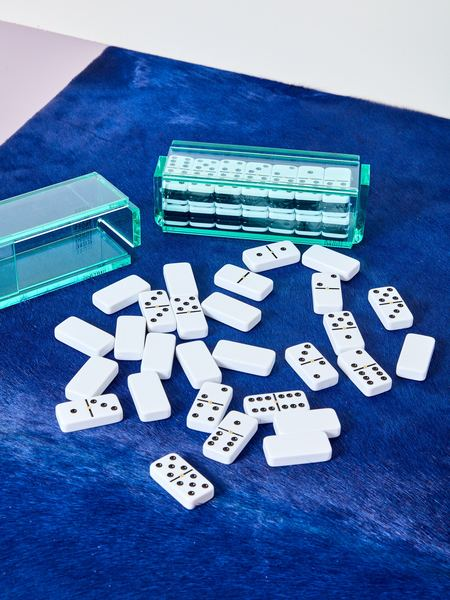 Luxe Dominoes Dominoes Set with Spinners