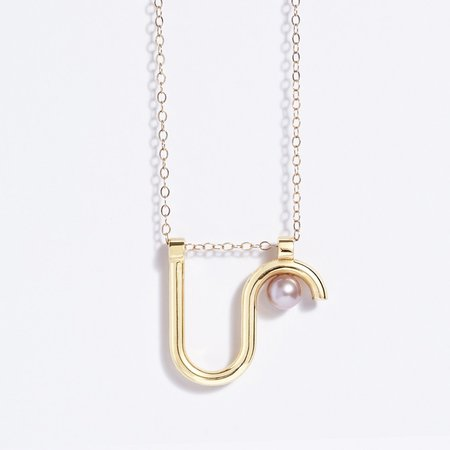 Metalepsis Projects Arco necklace - 14k gold