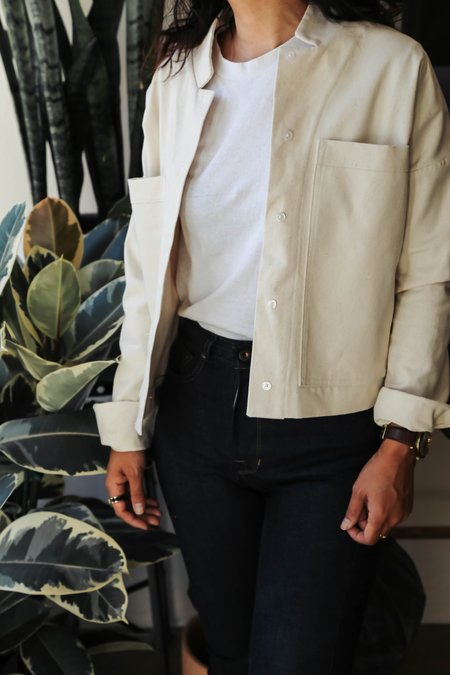 Hackwith Design House Button-Up Jacket Top