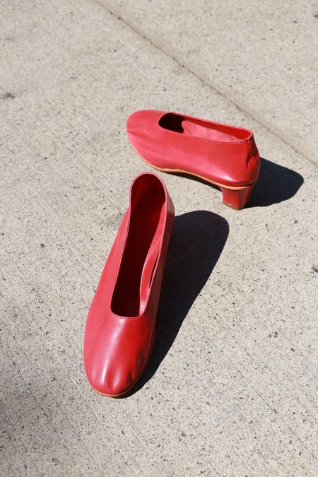 Martiniano Glove Leather High Heel - Red