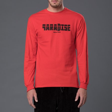 Head of State+ Paradise Long Sleeve Tee Shirt - Red