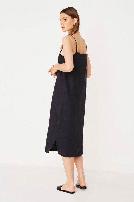 Assembly Linen Slip Dress - Black