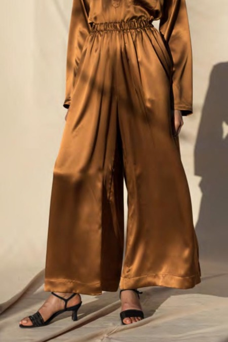 Pari Desai Kova Silk Pants - Bronze