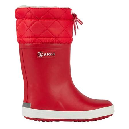 KIDS Aigle Child Giboulee Lined Winter Boot - Red/White