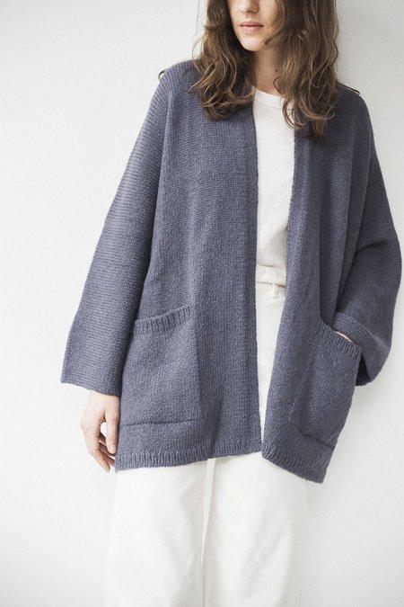 Bare Knitwear Kimono Coat - Grey