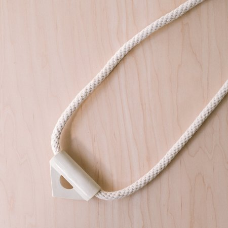 YYY Triangle Necklace - White