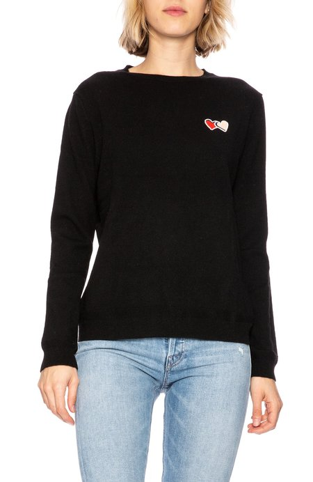 Chinti and Parker Twin Heart Badge Sweater