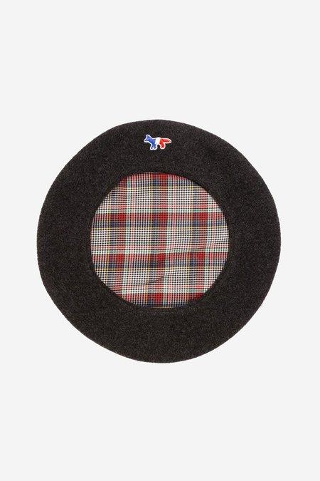 Kitsune Wool Beret - Anthracite
