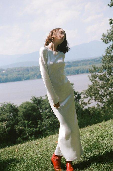 BEVZA Extra Long Dress - Ivory