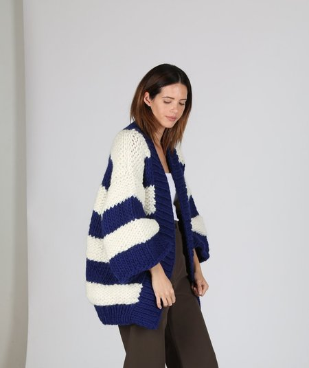 I love Mr. Mittens Bell Sleeve - Navy/Cream Stripe