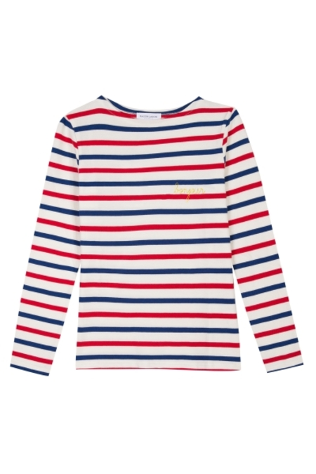 Maison Labiche Bonjour Sailor Shirt - RED/WHITE/BLUE
