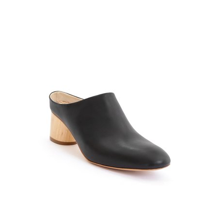 Sydney Brown Low Mule - Black
