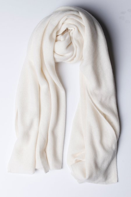 Unisex White + Warren Travel Wrap - Pearl White
