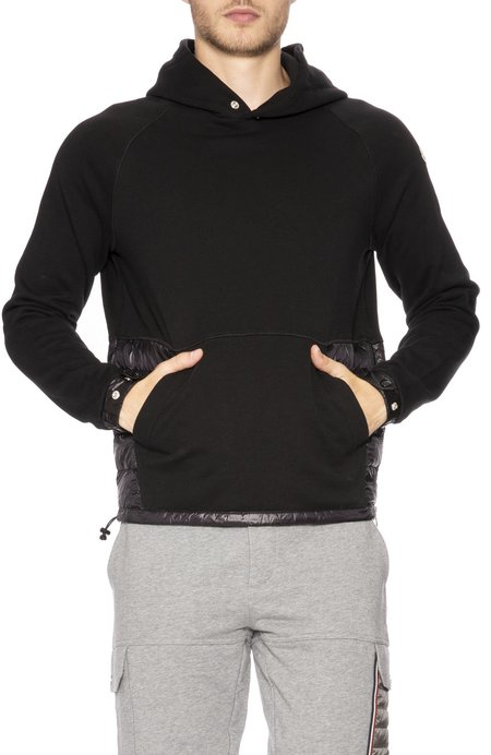 Moncler Maglia Quilted and Knit Hoodie - Black