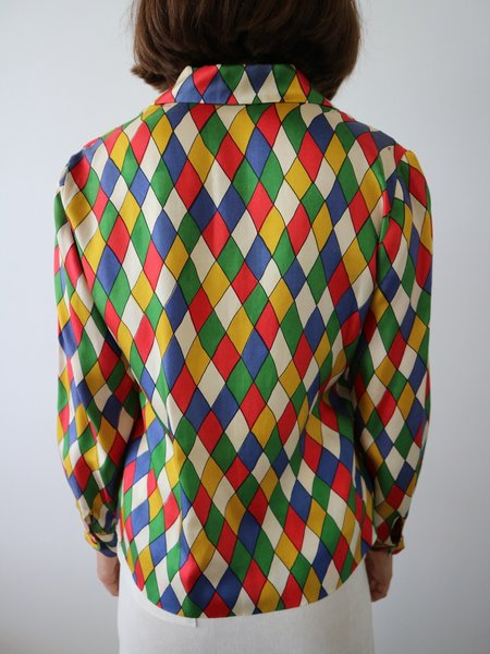 Vintage HOH Curate 1970s Blouse - Multi