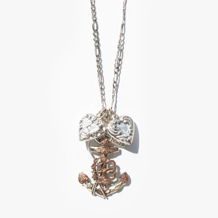 Found By Kindred Antique Sweetheart Charm Necklace - SILVER
