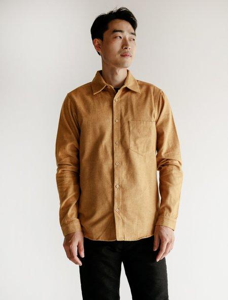 Frank Leder Cotton Shirt - Yellow