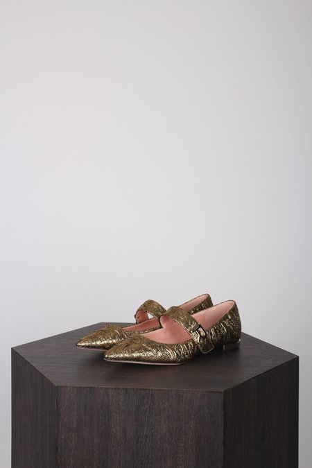 Rochas Mary Jane Flats - Brocade