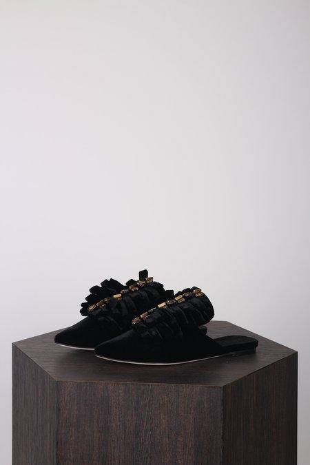 Sanayi313 Drina Slippers - Velvet Black