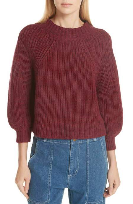 Apiece Apart Merel Funnel Neck Sweater