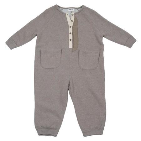 KIDS Tambere Jumpsuit With Pockets - Khaki Beige