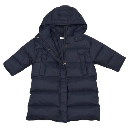 KIDS Tambere Child Quilted Down Coat With Hood - Navy Blue