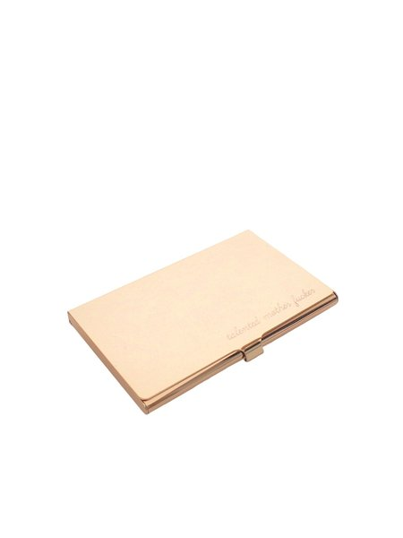 IGWT Jewelry talented mother fucker Card Case - Gold Tone