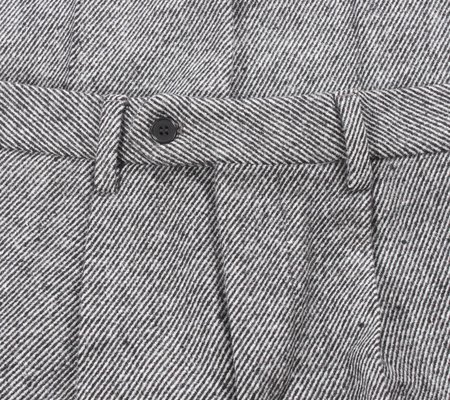 AFIELD Pleat Trouser - Grey Wool