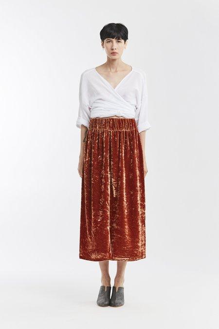 Miranda Bennett Velvet Paper Bag Skirt - Quintana