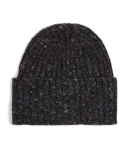 Drake's Donegal Merino Wool Hat - Charcoal