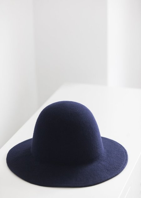 Brookes Boswell Wool Felt Millinery Benning - Navy