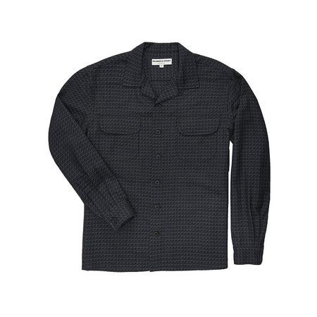 Krammer & Stoudt Cesar Two-Pocket Shirt - Blue/Black Jacquard