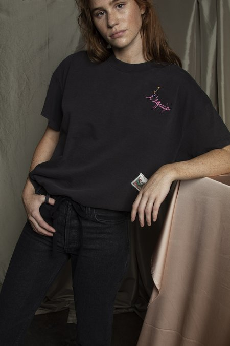 L'equip Embroidered Non-logo T-shirt - Ember