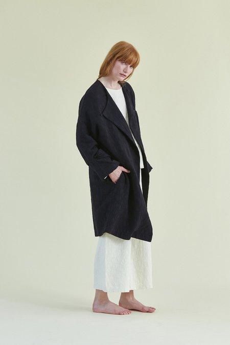 Black Crane Oversized Coat