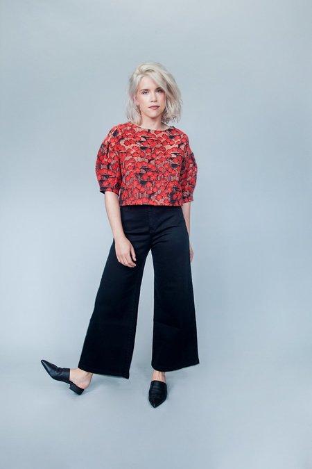 Eve Gravel Crimson Petal Top