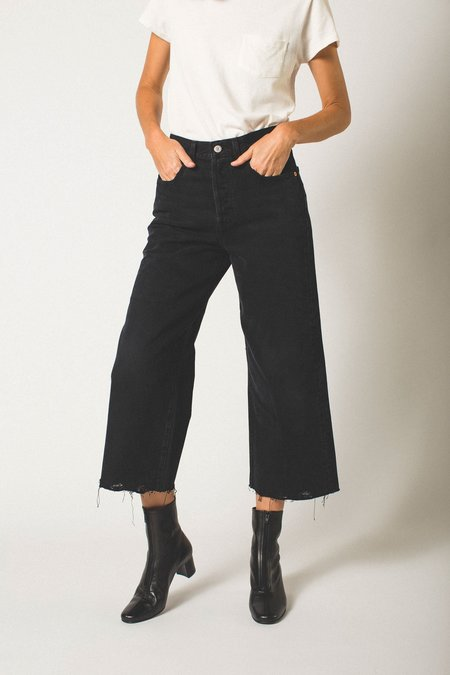 Levi's High Water Wide Leg Jeans - Black