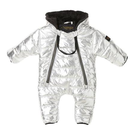 KIDS Finger In The Nose Baby Nest Pramsuit - Silver