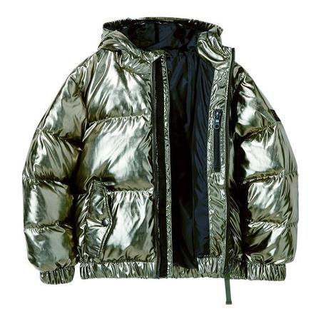 KIDS Finger In The Nose Child Snowdust Down Winter Jacket - Gunmetal Green