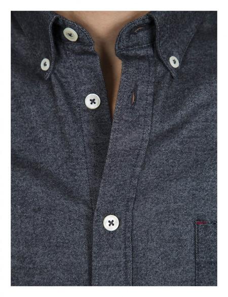 Cuisse de Grenouille Chemise Fan Long sleeve Button Down - Grey Anthracite